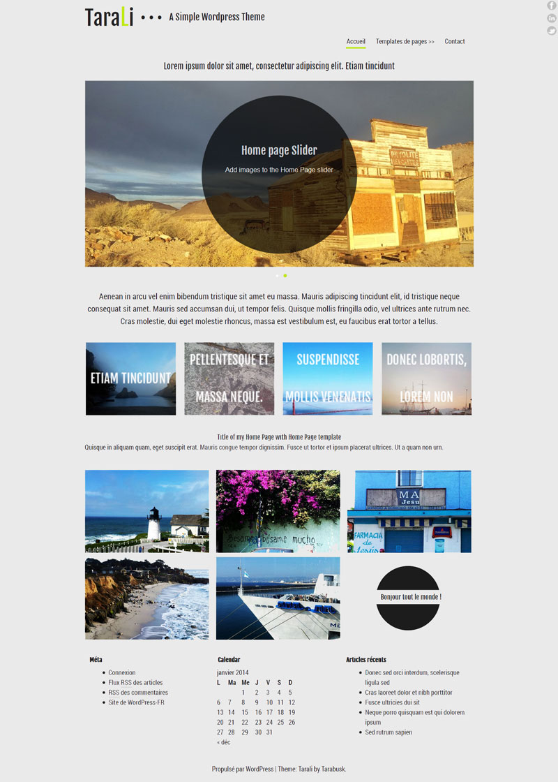 theme Wordpress 2014 Gratuit, simple et sobre
